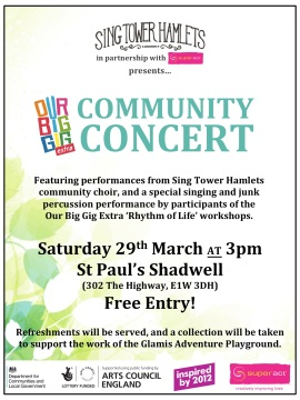 Spring 2014 Community Concert Poster